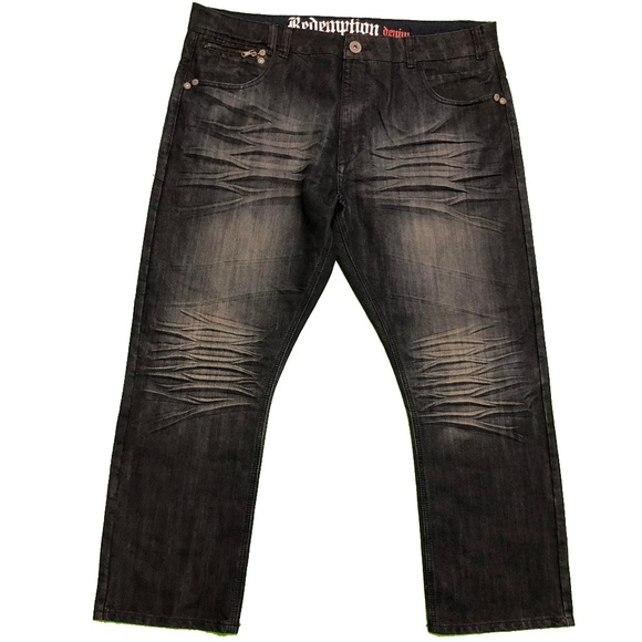Redemption Other - NWT Redemption Black Denim Jeans 44 x 30